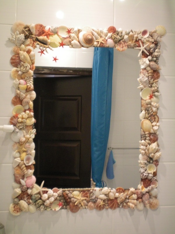 Декор дзеркала своїми руками. Як прикрасити дзеркало морськими мушлями або бісером?