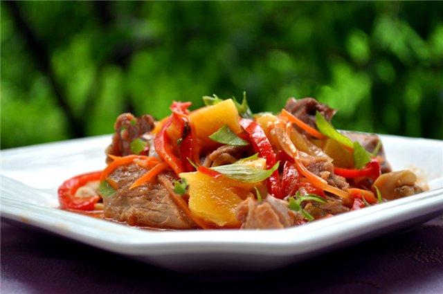 Індичка з овочами в мультиварці: рецепт