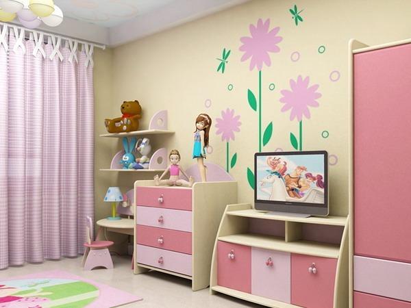 Інтер'єр дитячої для дівчаток