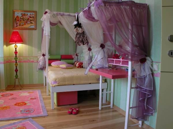 Інтер'єр дитячої для дівчинки