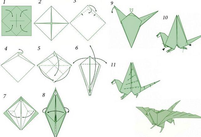 Як зробити дракона з паперу? Опис, схеми і відео урок