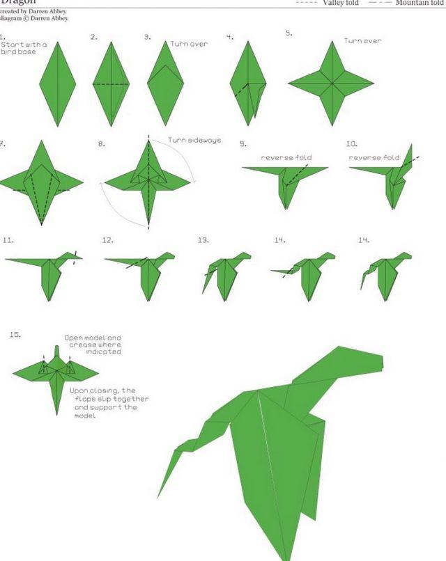 Як зробити дракона з паперу?