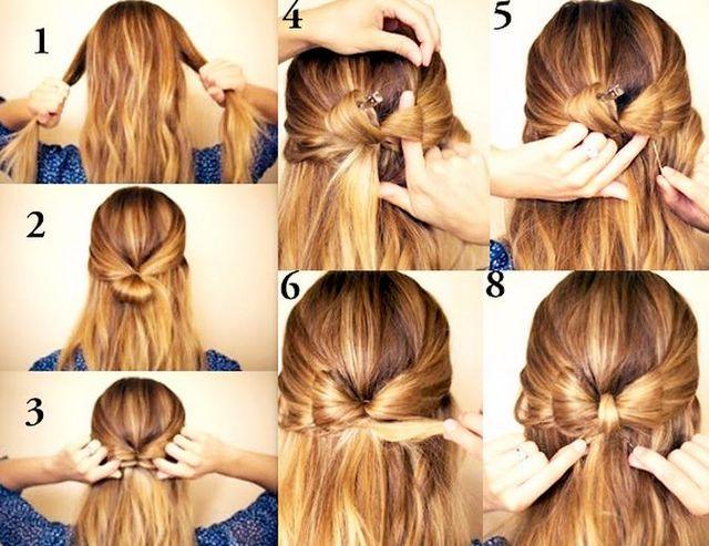 Як зробити зачіску бантик? Зачіска бантик з волосся: інструкція та відео
