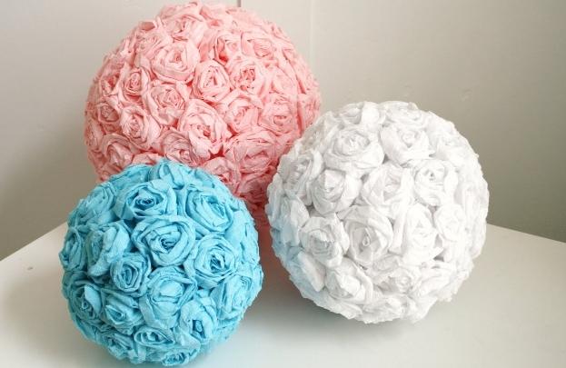 Як зробити кульку з квітів своїми руками?