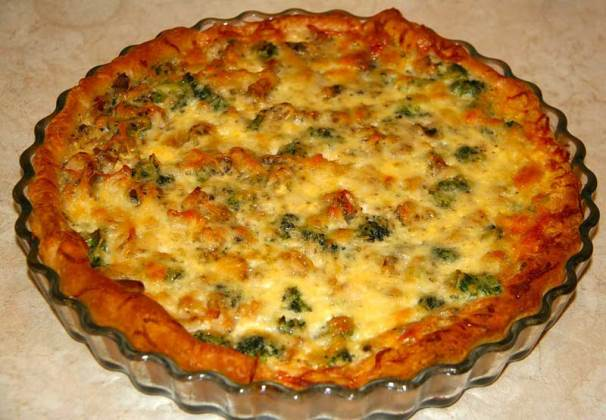 Картопляний пиріг з грибами і зеленню