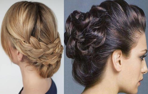 Новорічні укладання з косами