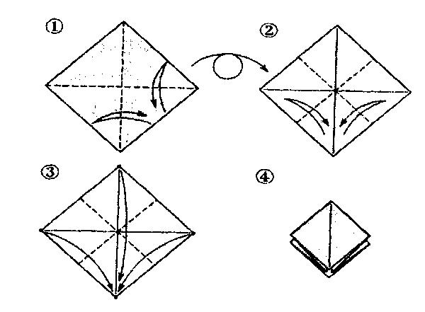 Орігамі з паперу: птах