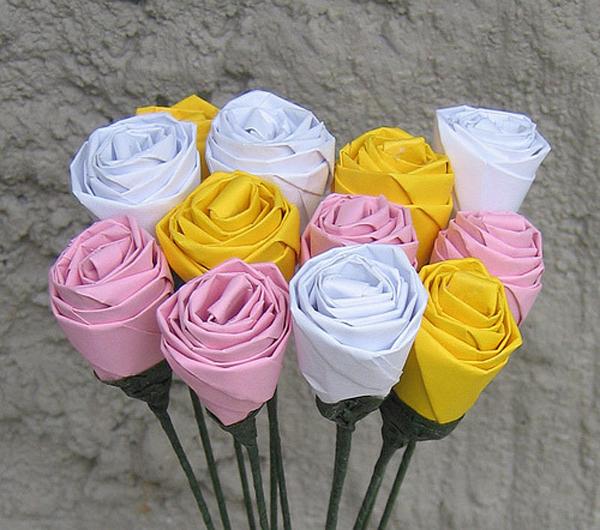 Орігамі: троянда з паперу. Роза орігамі: схема Тошікадзу Кавасакі