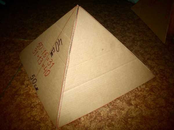 Піраміда з паперу своїми руками