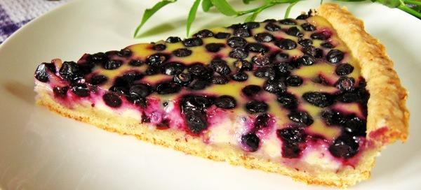 Пиріг з чорницею замороженою. 5 рецептів чорничних пирогів