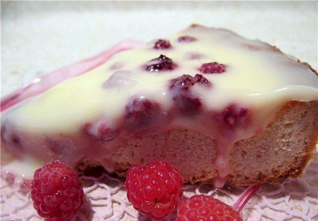 Сметанний пиріг з малиною: рецепт з фото оформлення