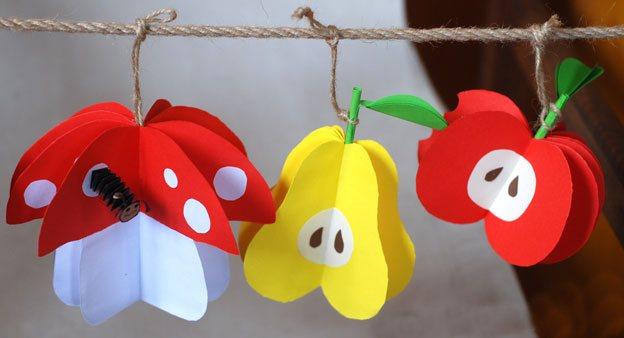 Дитячі вироби з кольорового паперу
