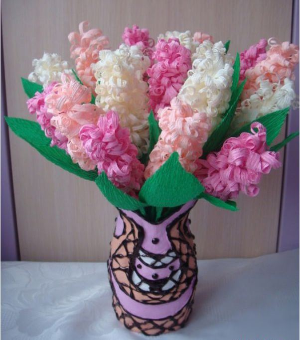 Вироби з кольорового паперу: квіти