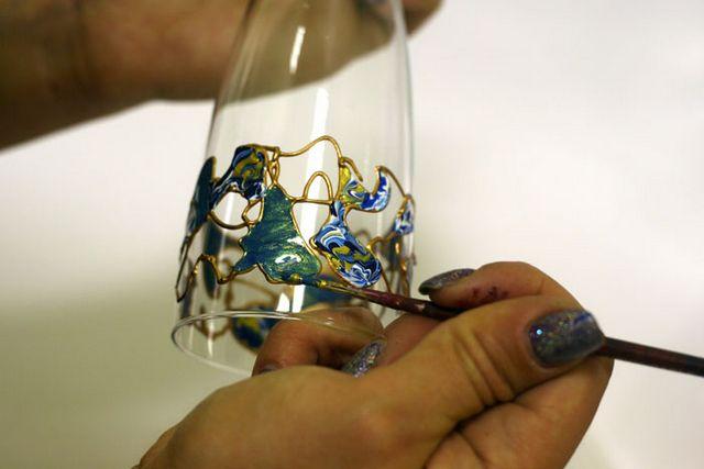 Розпис по склу акриловими фарбами
