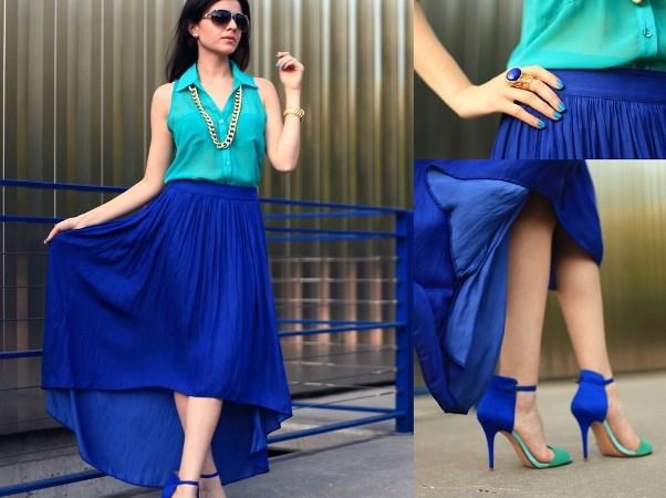 З чим носити синю спідницю? Ансамблі з міні, максі та ін. Фасонами спідниць синього кольору
