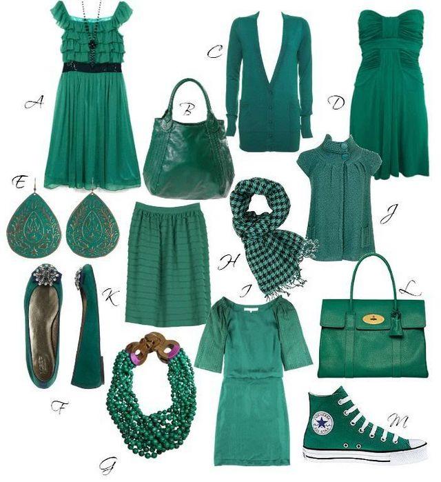 З яким кольором поєднується зелений в одязі?