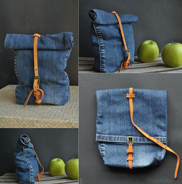 Сумка з джинсів своїми руками. Викрійки різних варіантів сумок з джинсів