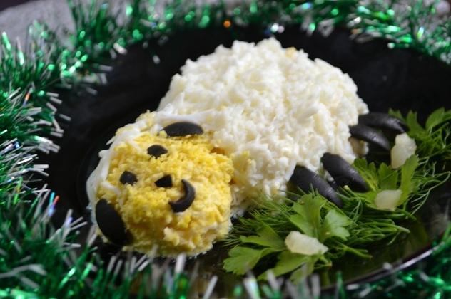 Новорічний салат Овечка
