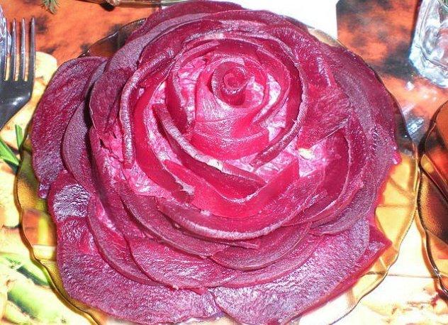 Салат Оксамитова троянда до нового року