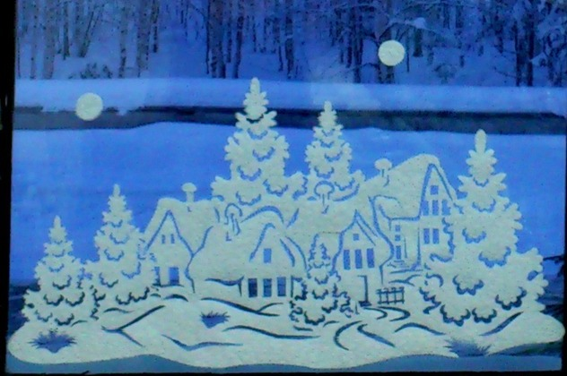 Новорічний Візерунок на вікні