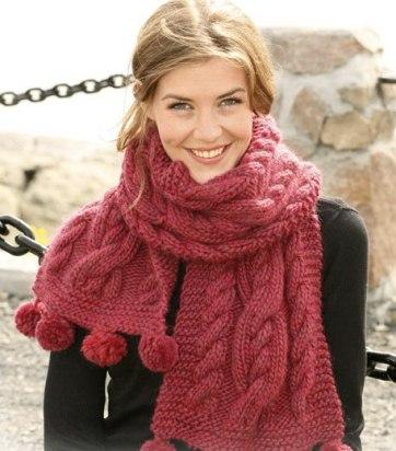 Узори для в'язання шарфа спицями